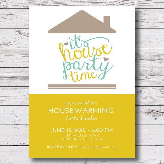 Instant Download Housewarming Invitation Housewarming Party