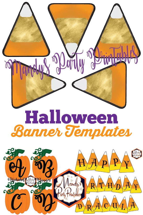 get your diy fix with these free halloween banner templates mandys party printables