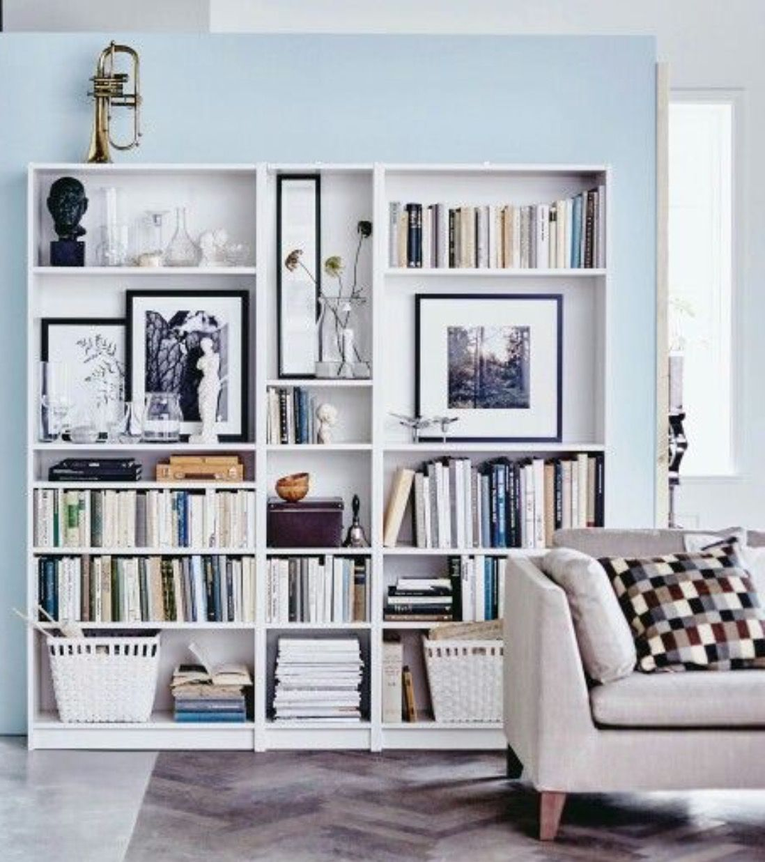 Wohnzimmer Arbeitszimmer Ideen Ikea Shelves Regal And Bücher Billy Bücherregal