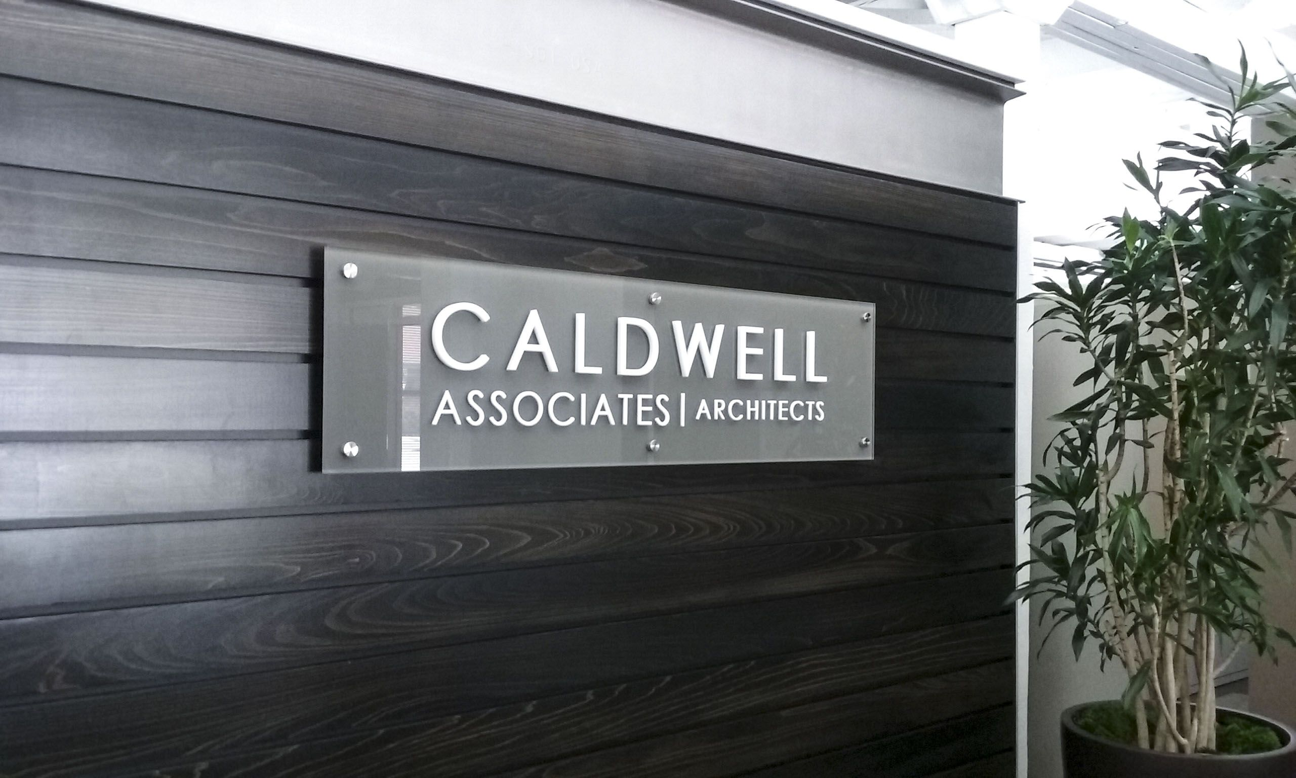 Caldwell Associates Architects corporate identity signage by