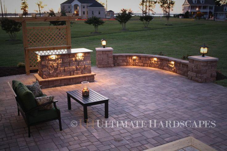 lighted patio pavers pavers patio lighting www