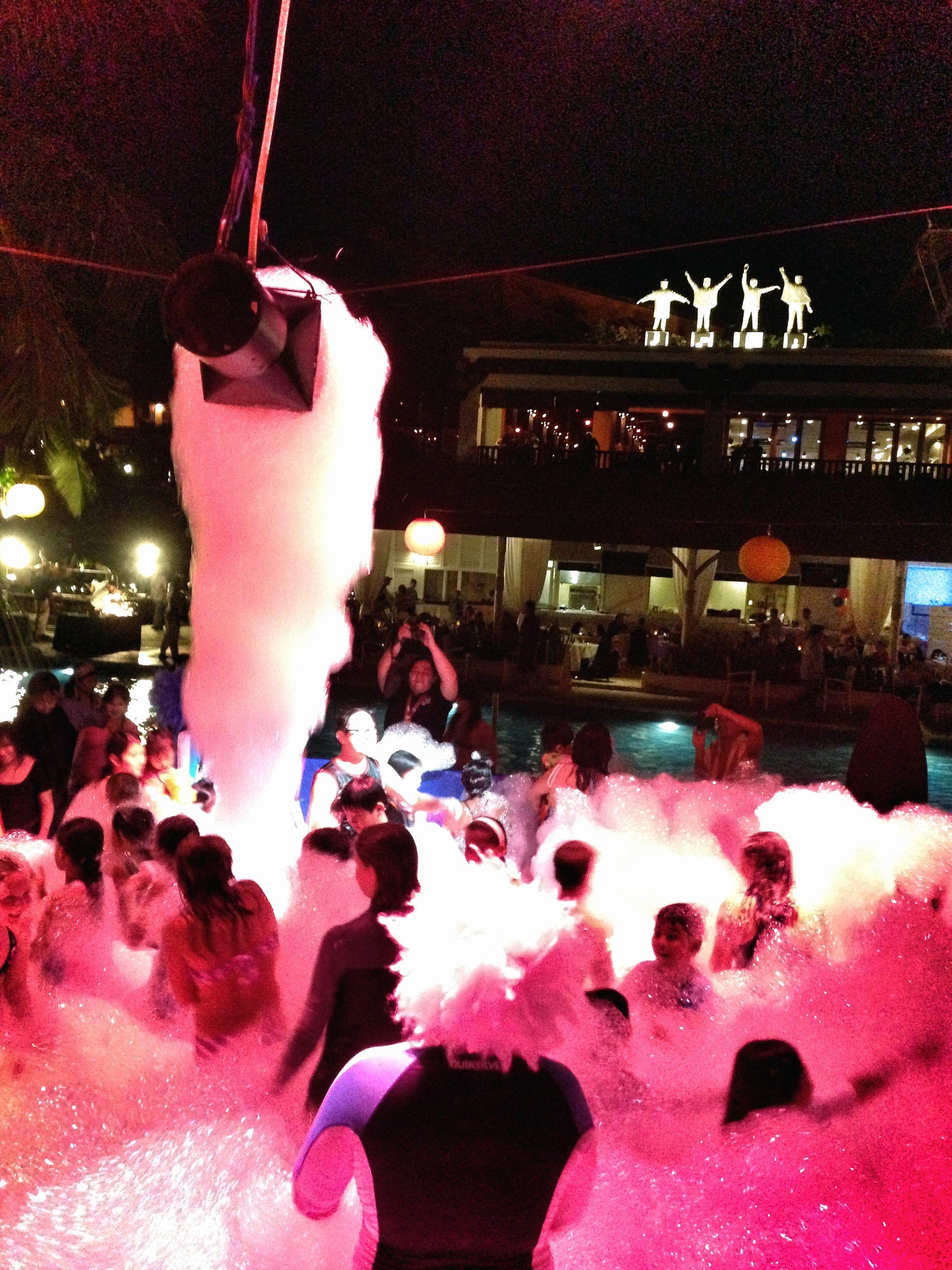 Foam Party Hard Rock Hotel Bali