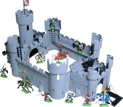 Timpo Medieval Toy Castle 43202 Hobbiesthis Robustly Constructed Castle Comes Complete With Working Portcullis And Drawbridge Toy Castle Model Castle Castle