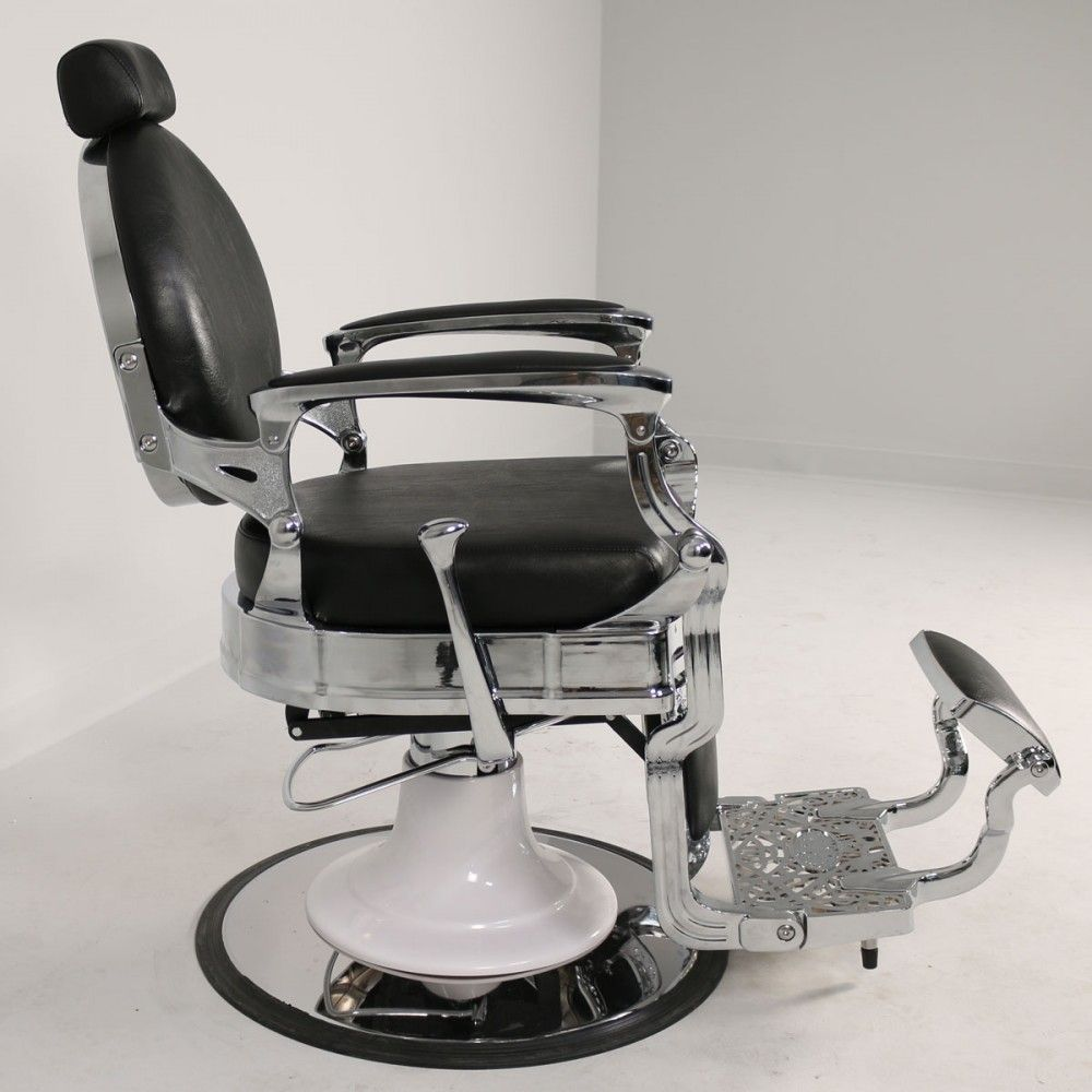 Pagano Barber Chair in Black is part of Barber chair - The Pagano is truly the chair of all chairs  Beautiful, classy, masculine, comfortable    everything you could expect from a classic barber chair and more