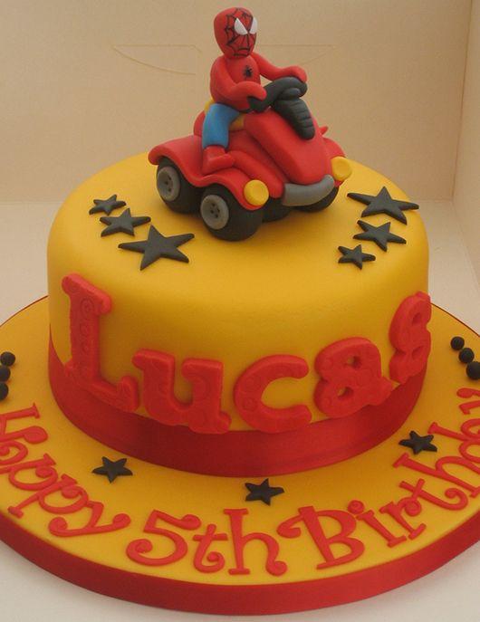 Spiderman Yellow Cake Google Search Jonathan Birthday Pinterest