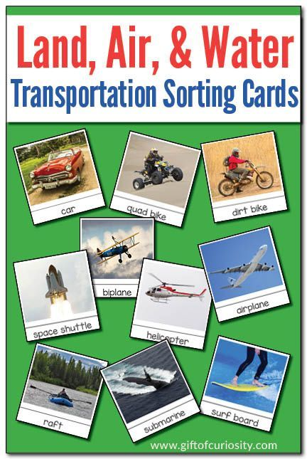 Sorting Land Air And Water Transportation Modes Montessori