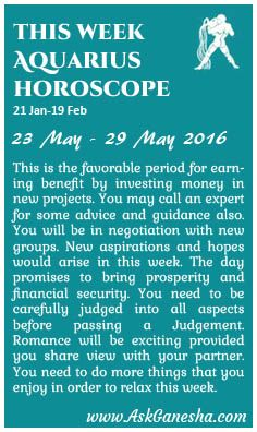 the aquarius horoscope weekly