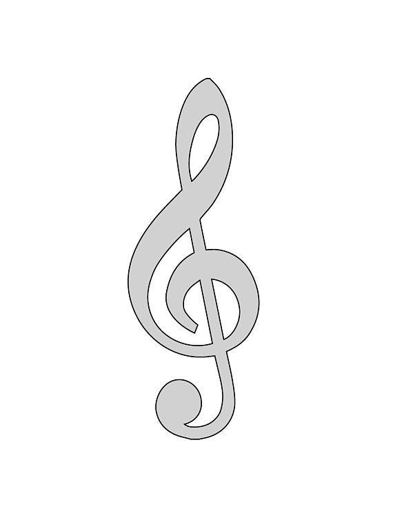9\ - treble clef template