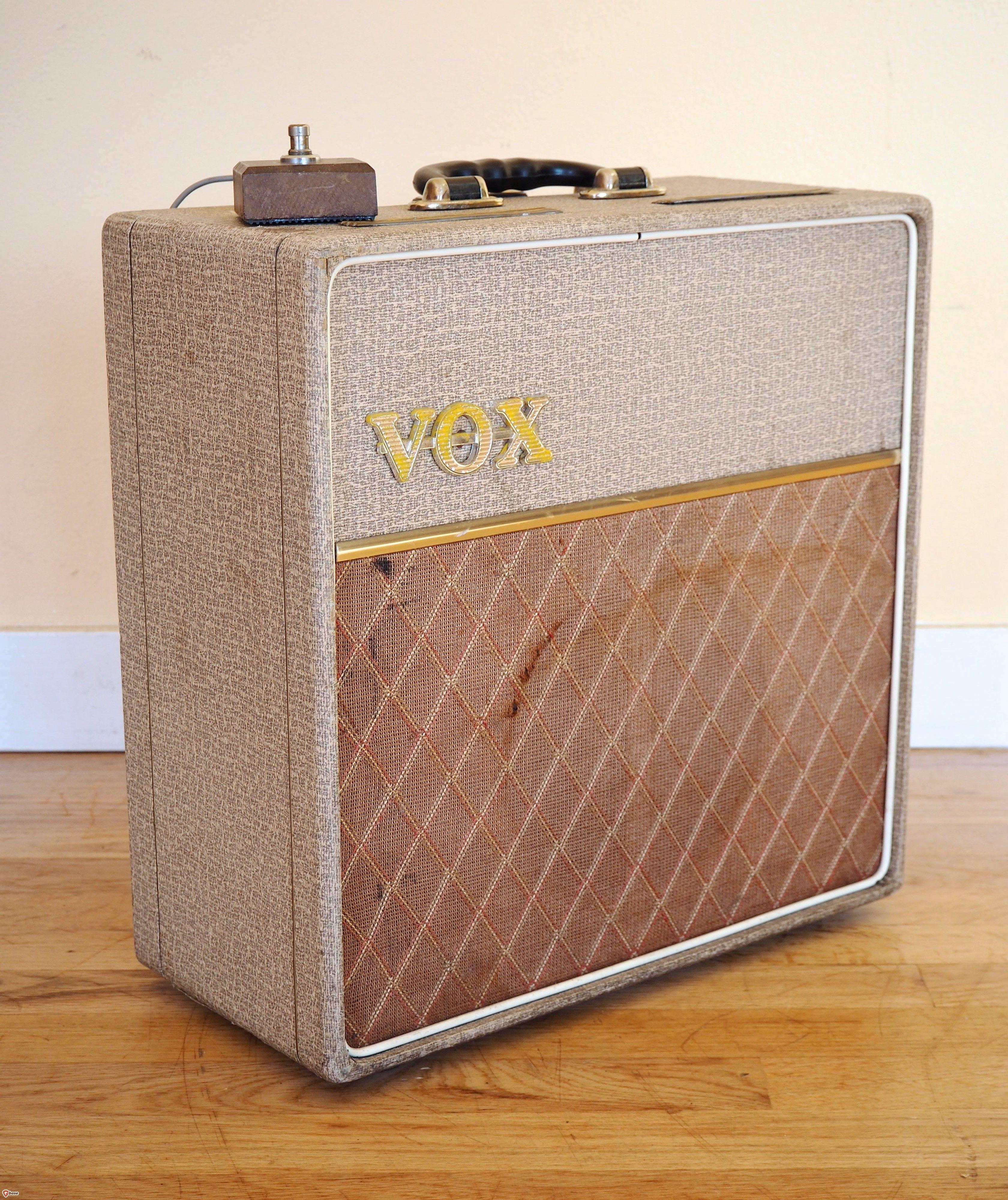 1962 vox ac4 vintage class a tube amplifier fawn jmi uk
