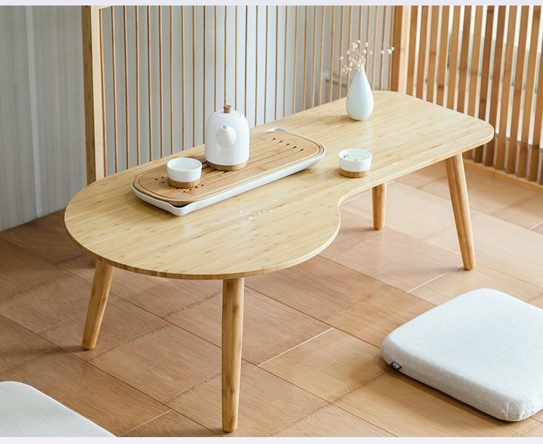 Cloud Natural Bamboo Coffee Table Coffee Table Bamboo Coffee