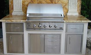 Built In Bbq Outdoor Kitchen Grill Island Doors Drawers