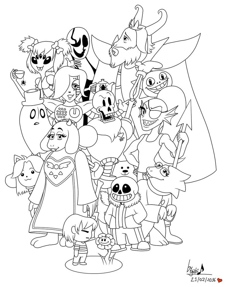 Undertale Coloring Pages Printable Dessin Diy