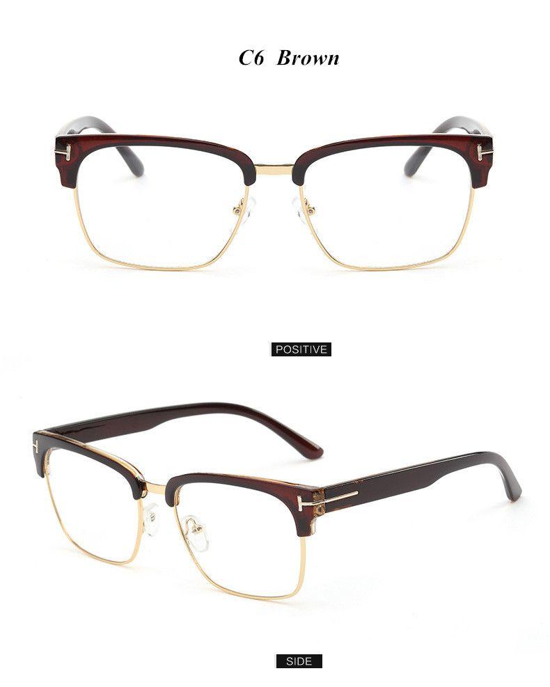 9a4fe80ad5 Brand Half Frame Female Eyeglasses Men Vintage Eye Glasses Frame for Women Optical  Spectacle Frame Reading Prescription Eyewear Who like it
