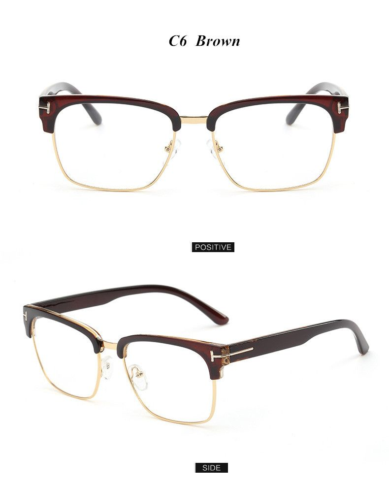 90cdaf64545 Brand Half Frame Female Eyeglasses Men Vintage Eye Glasses Frame for Women  Optical Spectacle Frame Reading Prescription Eyewear Who like it