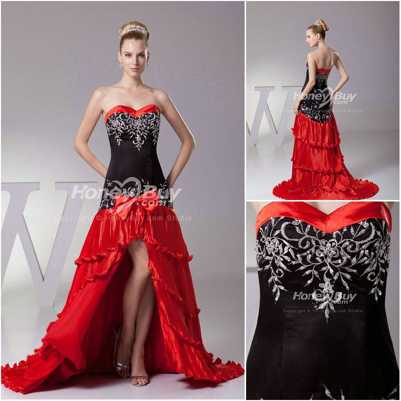 Red White And Black Wedding Dresses Wedding Ideas
