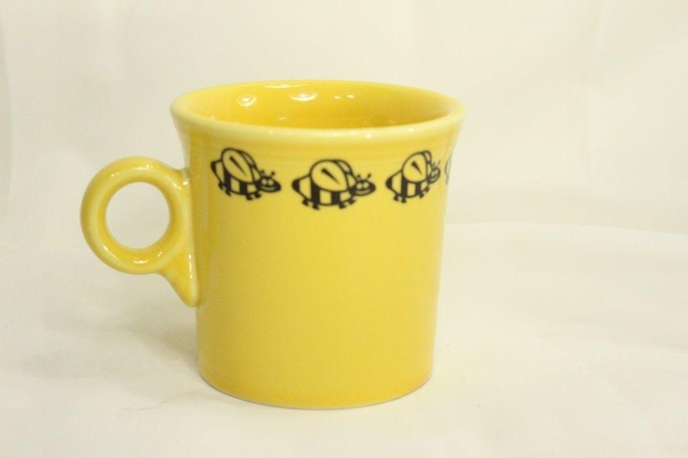 Fiesta Bumble Bee Yellow Mug Fiestaware Decal Bumblebee EUC Fiesta