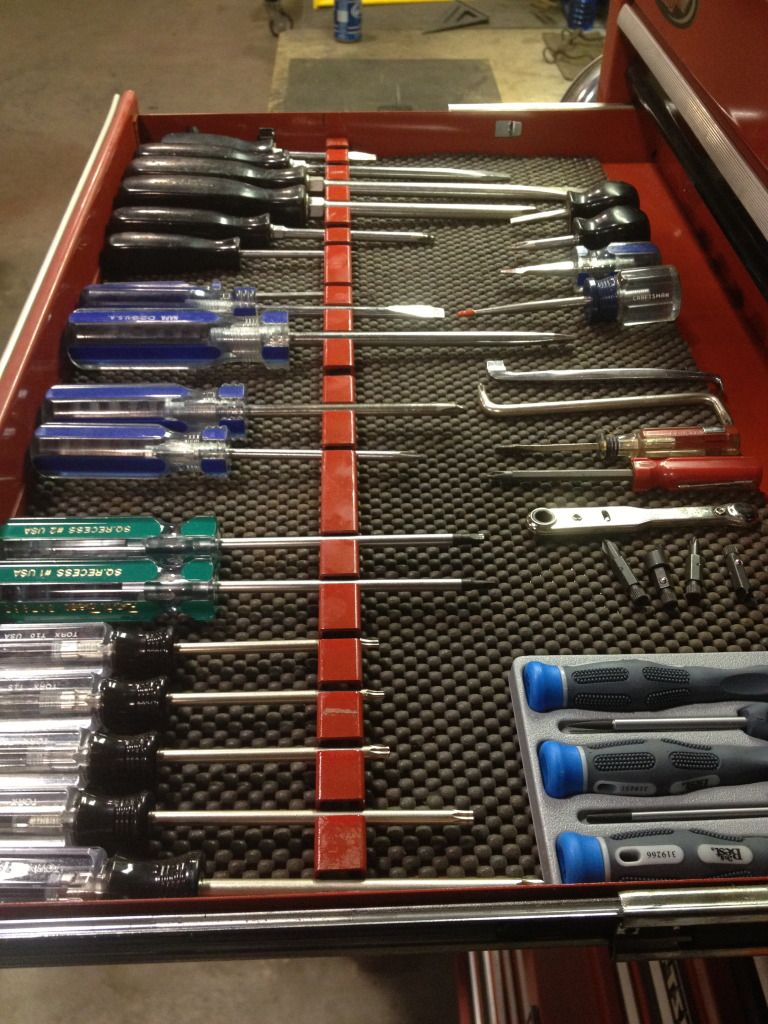 home made tool organizers pliers and screw drivers - the
