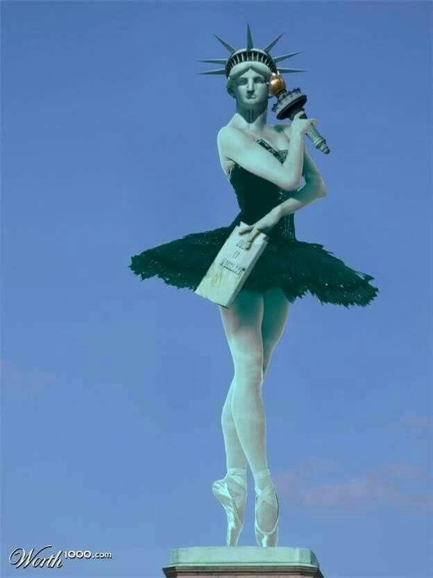 statue of liberty ballerina dancing in 2018 pinterest dance