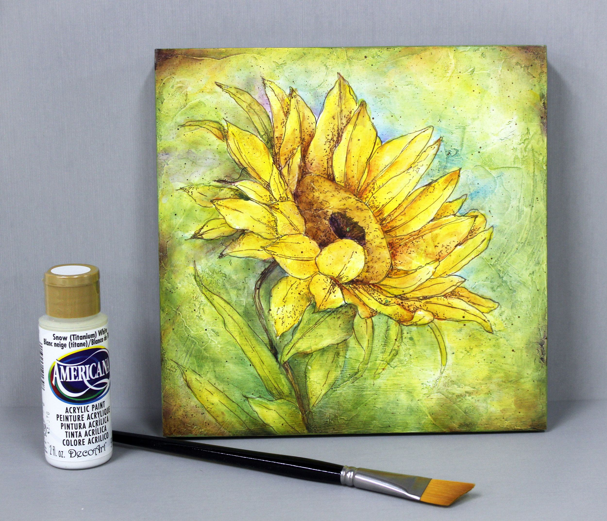 A Single Sunflower Pdf Packet Painting Templates Painting