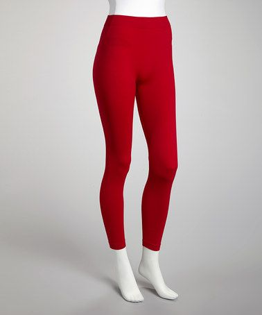 Take a look at this Red Leggings - Plus by r.bryant on #zulily today!
