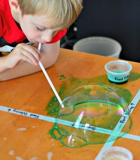 Homemade Bubble Solutions & Indoor Bubbles! - In Lieu of Preschool