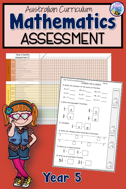 Mathematics Assessment Australian Curriculum Year 5 In