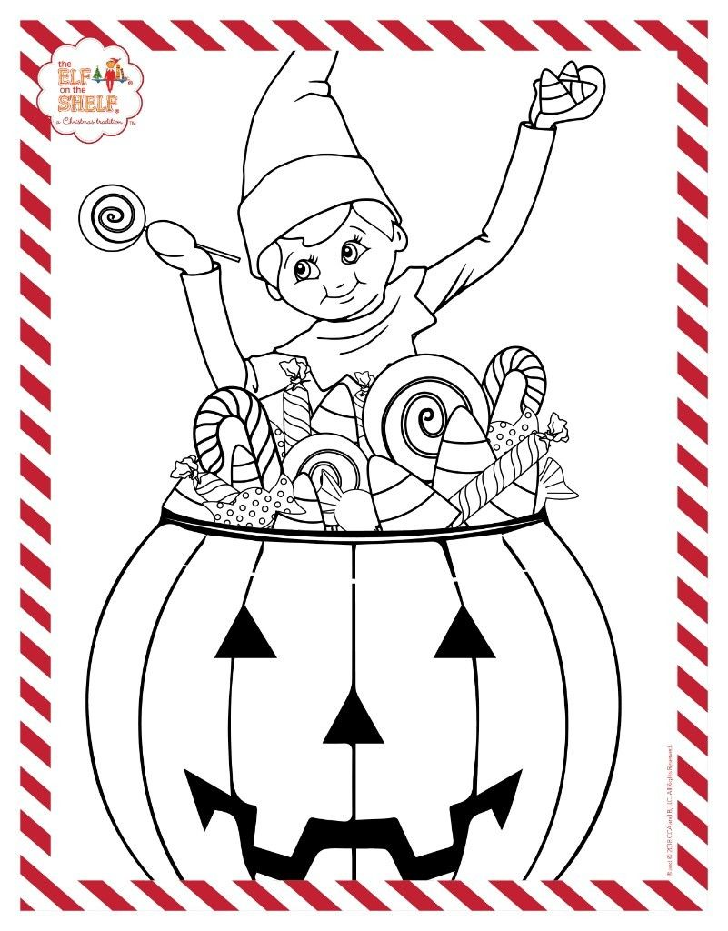 The Elf On The Shelf A Christmas Tradition Halloween Coloring Pages Halloween Coloring Santa Coloring Pages