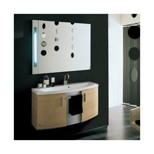 Bathroom Vanity - Iotti Dune Decorative Vanity Set With Fitted Ceramic Sink and Mirror ND2