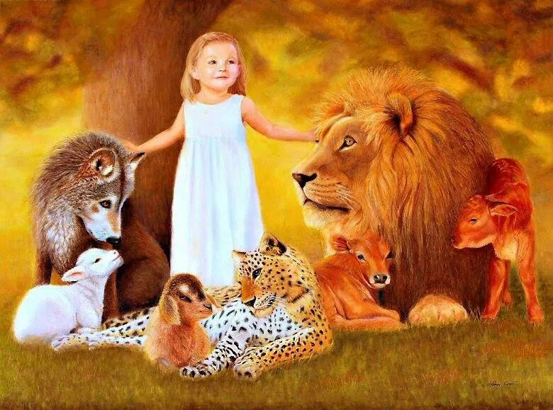 One day our children can pet the wild animals and not be afraid.