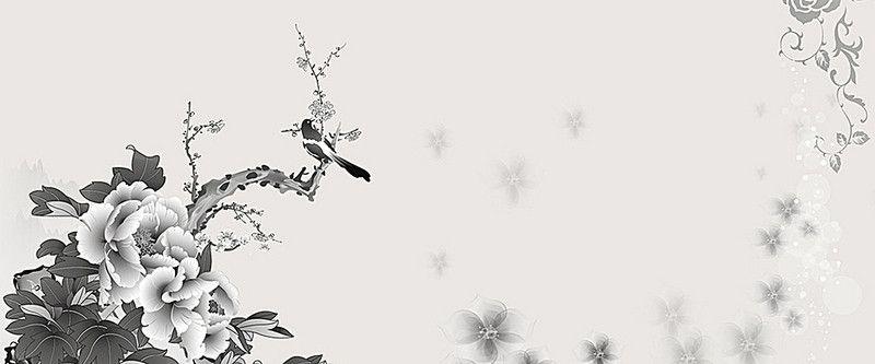 الحبر الأسود على خلفية بيضاء Deer Design Background Art
