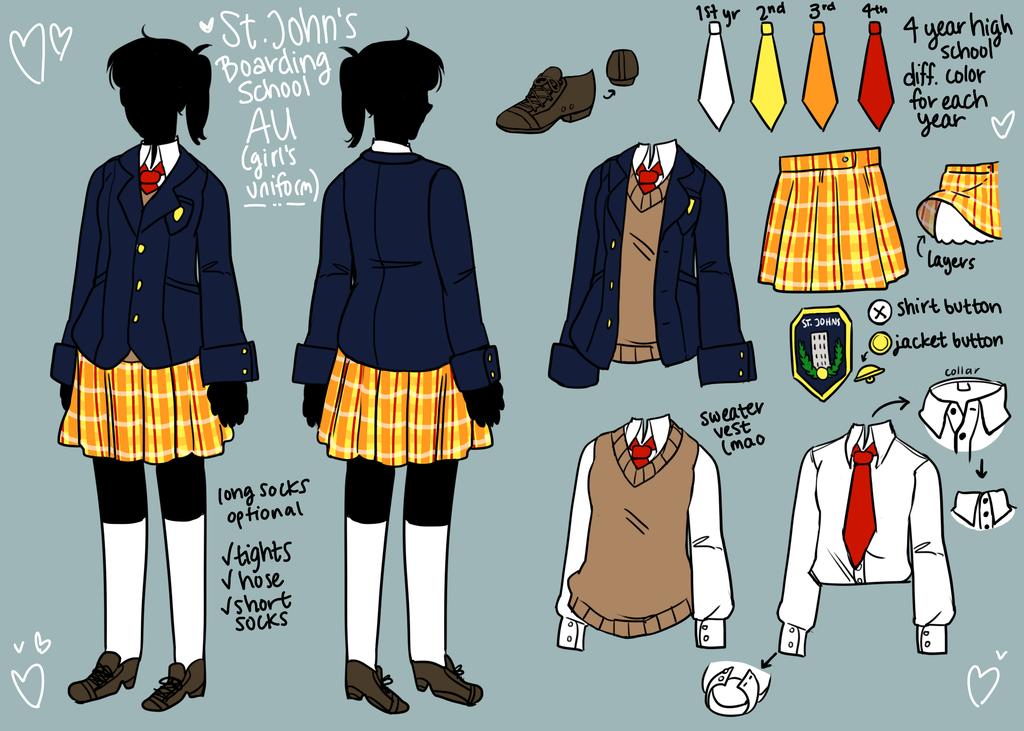 School Au Ref By Papyrus Tree Deviantart Com On Deviantart School Uniform Outfits Anime Outfits Fashion Design Drawings