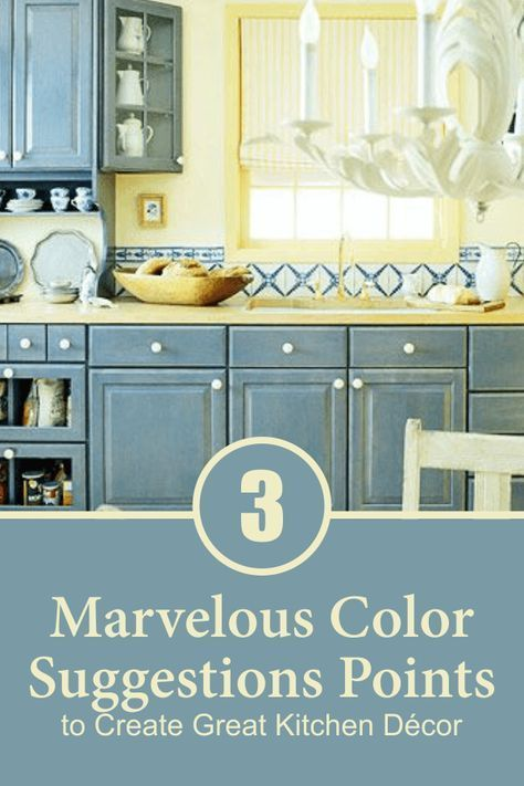 3 Marvelous Color Suggestions Points to Create Great Kitchen Décor images