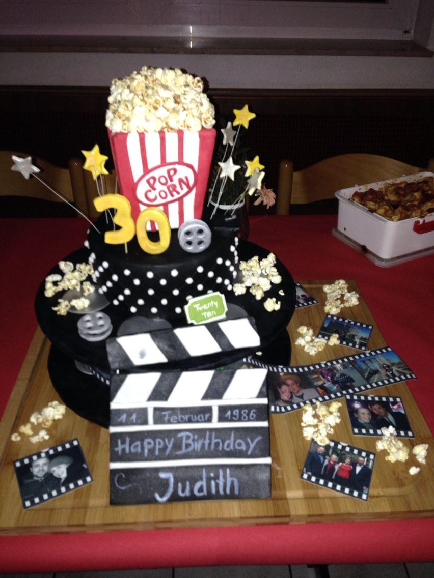 Filmrollen Torte Motiv Torte Zum 30 Geburtstag Thema Film Und Kino