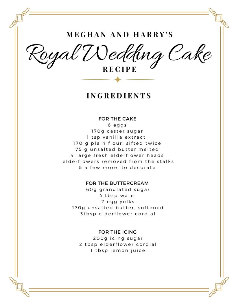 harry and meghan wedding cake iceland royal wedding recipe wedding cake meghan harry bakes all 15096