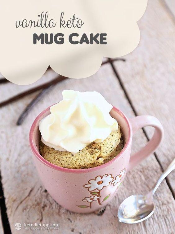 vanilla keto mug cake