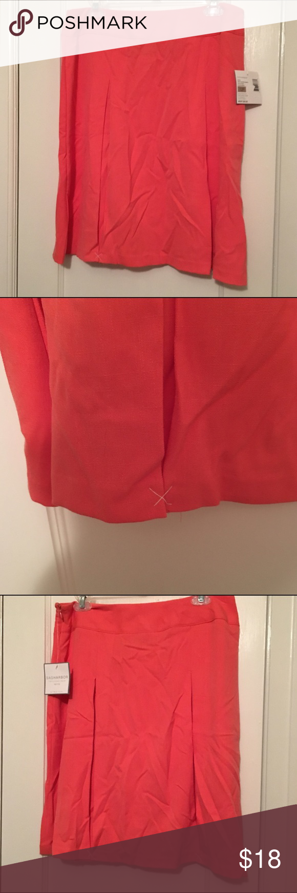 Sag Harbor Skirt Sag Harbor skirt. Very soft. Almost t-shirt-like material. Coral color. Sag Harbor Skirts Mini