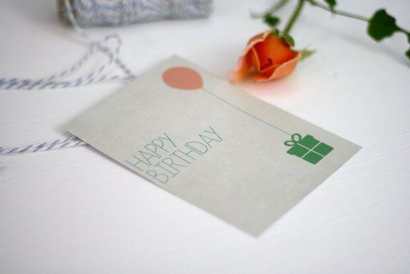 Printable Birthday Stationery Paper ~ Tarjeta de feliz cumpleaños u003eu003e freebie: birthday card printable