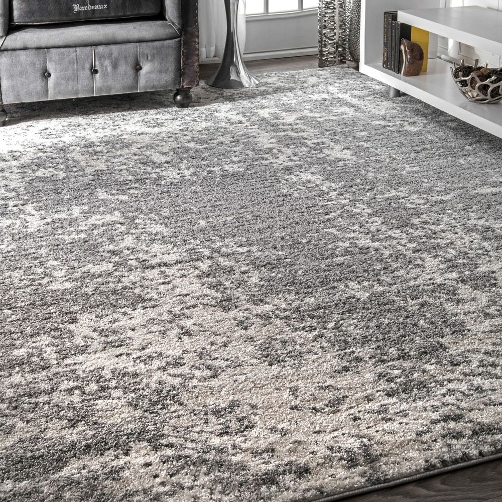 Beautiful Overstock Gray Rug