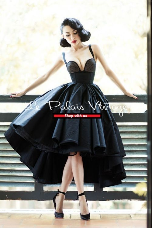 Le Palais Vintage Limited Edition Pin Up High Low 1950 Ball Gown Lbd Dress