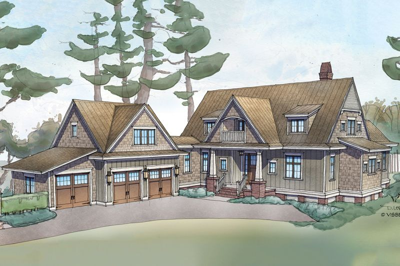 Model Of Farmhouse Style House Plan 4 Beds 4 5 Baths 3238 Sq Ft Plan 928 10 Exterior Front Elevation Houseplans Contemporary - Simple Elegant farmhouse style homes Model