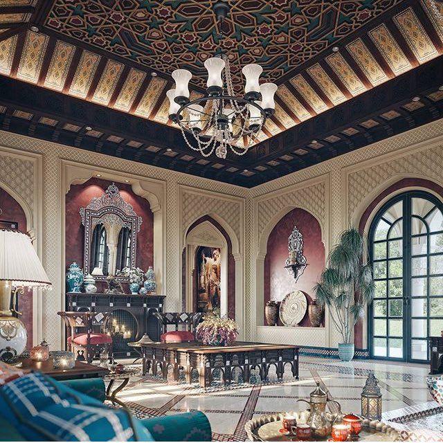 التميز للديكور Altamayozcom تويتر Moorish Design Celling Design Luxury Mansions Interior