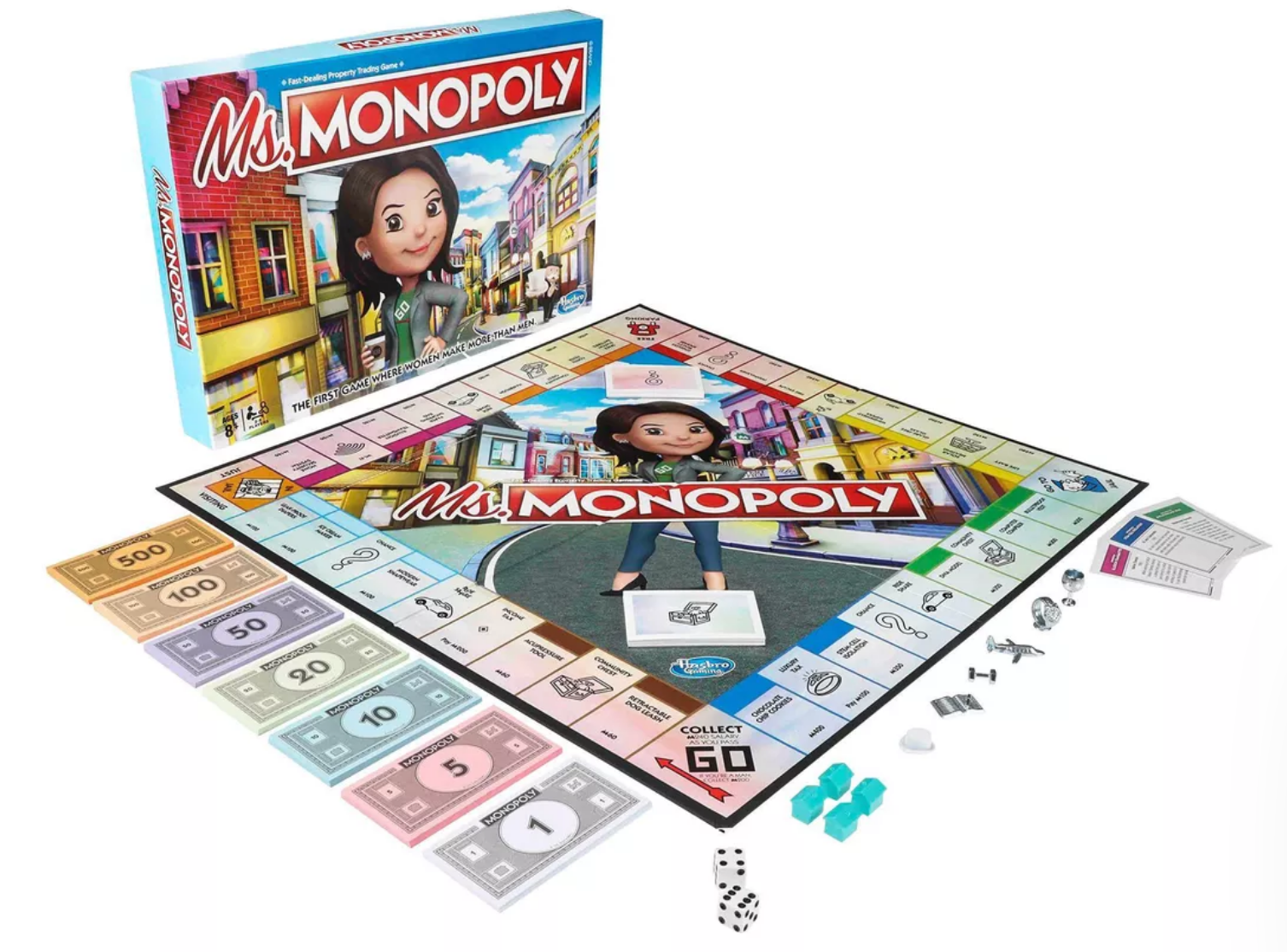 Move Over Mr Monopoly Ms Monopoly Is Here Board Games Monopoly Monopoly Board