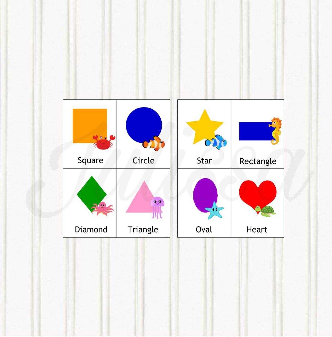 Shapes Flashcards Card Games Printable Worksheet