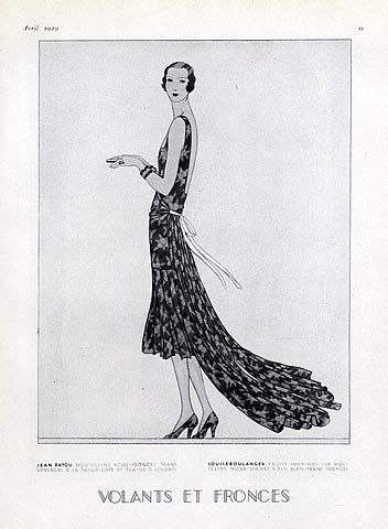 Louiseboulanger 1929 Evening Gown, Fashion Illustration