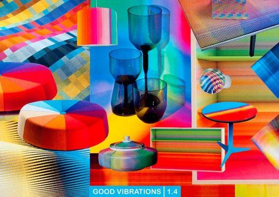 最初のテーマ「ダイナミックエナジー」は、明るい原色を示しています。