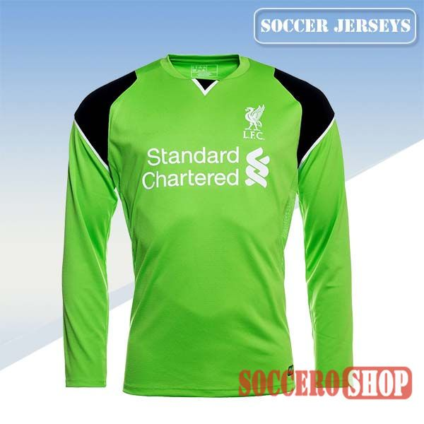 4b6fd0e08 Top Selling  New Top Quality Liverpool 2016 2017 Season Soccer Goalkeeper  Jerseys Long Sleeve Green