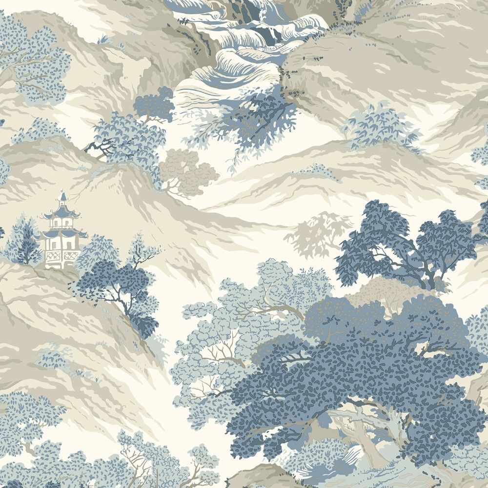 This Stunning Oriental Landscape Wallpaper By Crown Gives A Modern Twist To Classic Based On Traditional Toile Design Dating Back