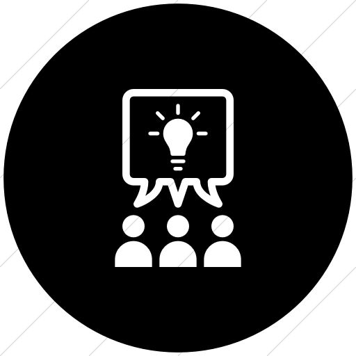 Iconathon Collaborative Learning Icon Style Flat Circle White On Black Collaborative Learning Work Icon Icon