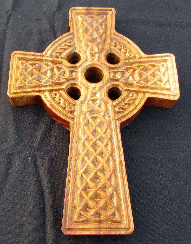 Celtic Cross; 12 inch wood Cross; Celtic; Celtic Wall Cross; Wood ...