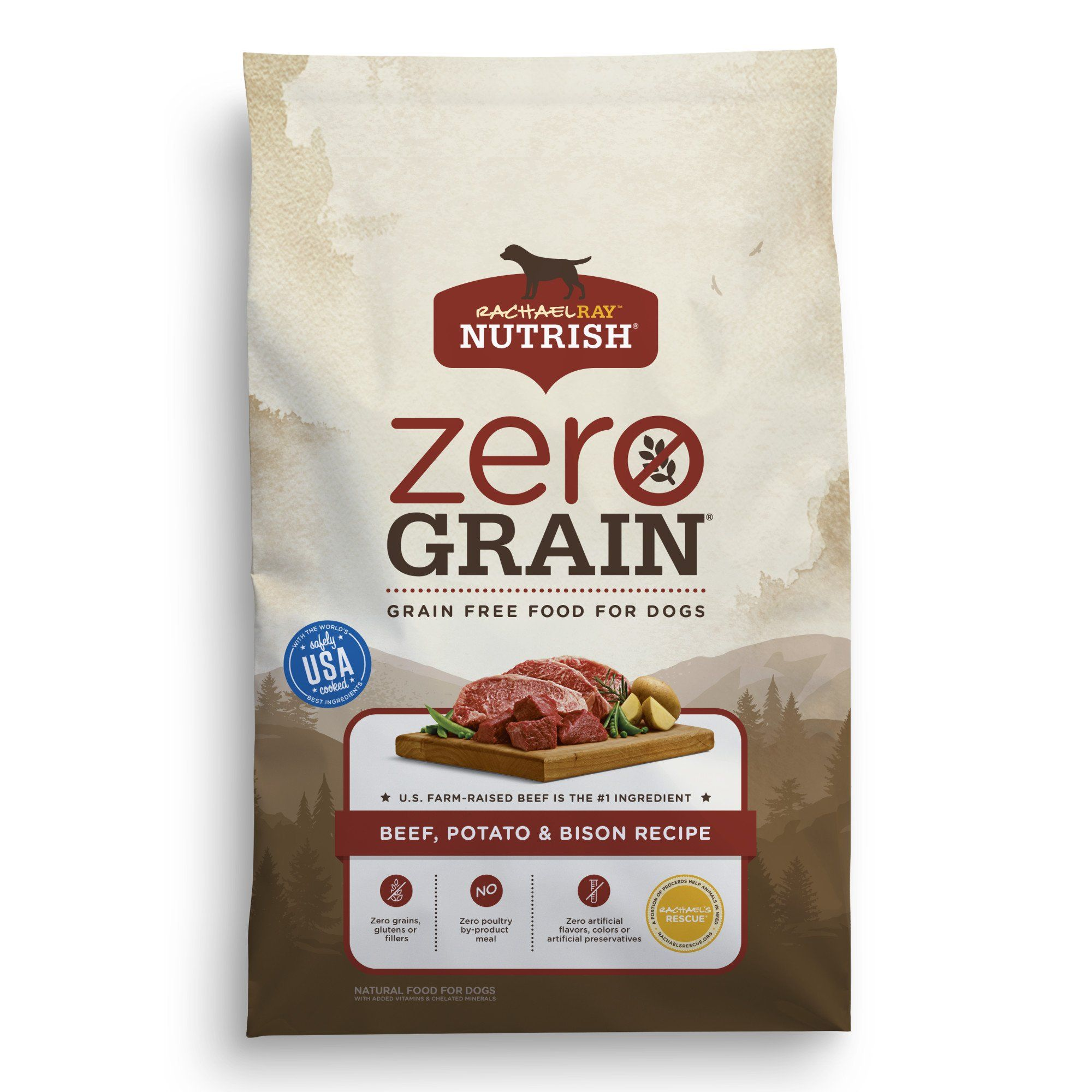 Rachael Ray Nutrish Zero Grain Natural Beef Potato Bison Grain
